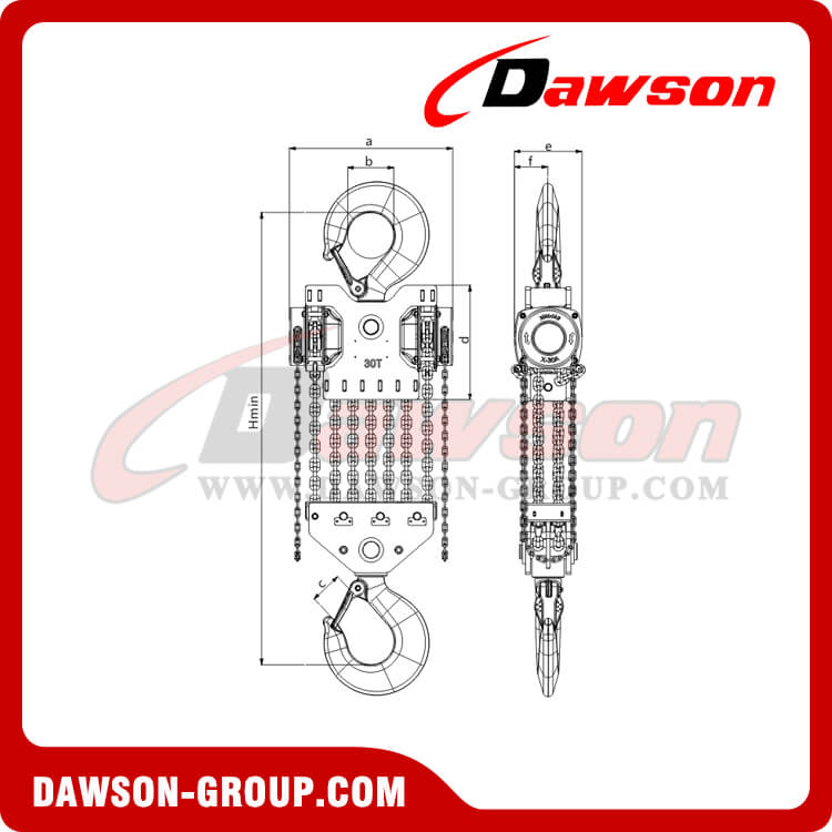 DS-DF-B 20T,30T Chain Hoist, Chain Block - China Dawson Supplier