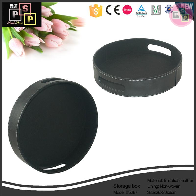 China Supplier Premium Custom Round Fabric Candy Tray, Rolling Tray