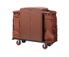 Multi-Function Three Layers Ironwood Hotel Guest Room Cleaning Linen Trolley / Laundry Trolley (FW-128B)