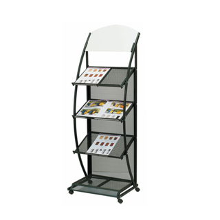 Black Color Information Rack for Lobby with Iron (CJ-40)