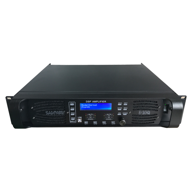 Amplificateur de puissance DSP Digital Audio Sound Audio D10Q 4CH avec Ethernet