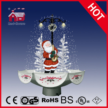 (118030U075-ST2-SS) Snowing Christmas Decorations with Umbrella Base