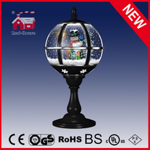 (LT30059H-HS00) Tabletop Snow Globe Lamp with LED Lights for Christmas