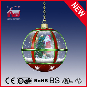 (LH30033B-RG11) Christmas Tree Santa Claus Christmas Snowing Hanging Lamp