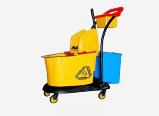 Plastic Down Press Double Bucket Mop Wringer (YG-388)