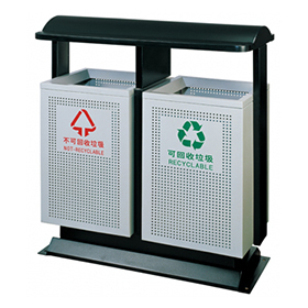 City receptacles collection with iron coated HW-71
