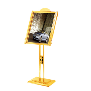 Titanium, Stainless Steel Sign Stand for Lobby (ZP-21)