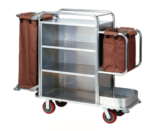 Stainless Steel Service Trolley for Hotel with Wheels(FW-59)