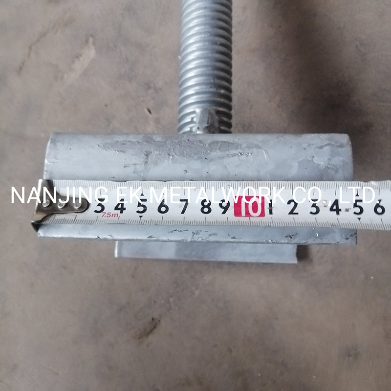 Materiales de construcción Tornillo Ajustable U-Head Base Jack
