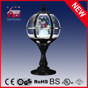 (LT30059H-HS10) Black Christmas Tabletop Lamp Top Lace Decoration