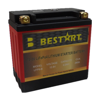 12.8V 4ah Lithium Ion Motorcycle Battery LFP9-B