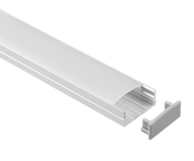 ALUMINIUM EXTRUSION A014-1M WIDE SURFACE MOUNT KIT