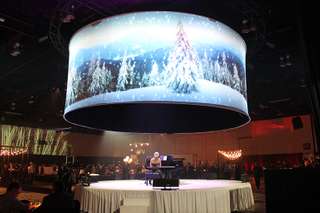 Large 360 Degree Customize Curved Projection Screen with 3D Silver Projection for Cinema,Custom-made