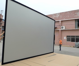Hot Sell HD Customized Wall Mount large Fixed Frame Projector Screen With Front Projection