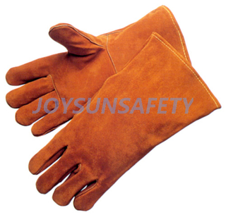 WCBY01 brown welding leather gloves