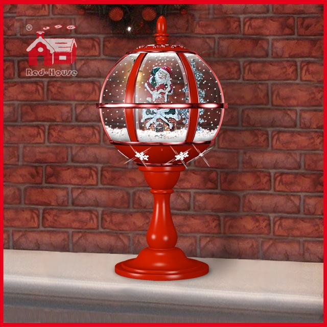 (LT30059A-RR11) All Red Festival Table Lamp with Lace Decoration and LED Lights