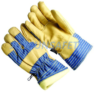 CATH328 leather palm winter gloves thinsulate lining
