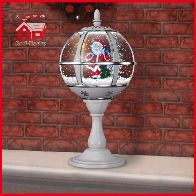 (LT30059D-SS10) Romantic All White Santa Claus Decoration Desk Lamp Holiday Gifts