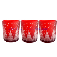 Hottest wedding home party holiday decoration laser engraving glass candle holders jar 12oz