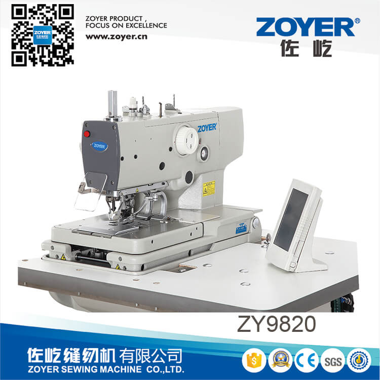ZY9820 zoyer High speed eyelet button holing sewing machine