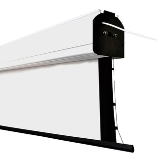 16:10 250Inch Electric Large Tab Tension Projection Screen Projector screen with Tubular Motor, Matte White,Remote Control