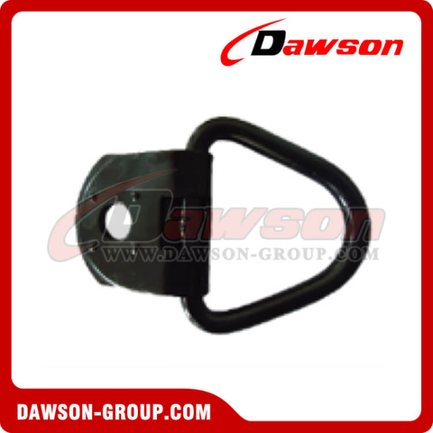 PPE-3A BS 1360kgs/3000lbs Welded Mounted D Ring Black - Pan Fitting