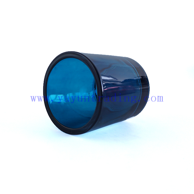 180ml Translucent Cobalt Thick Shiny Glass Candle Jar