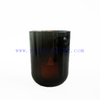 11oz Shiny Dark Green Glass Candle Holder with Zinc Alloy Lid