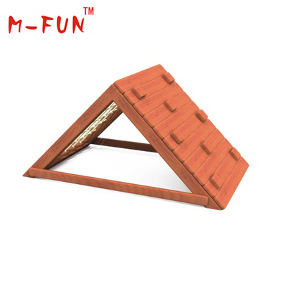 Children wood climbing frame