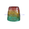 Wholesale 10oz 300ml Translucent Rainbow Shiny Horn Glass Candle Holder