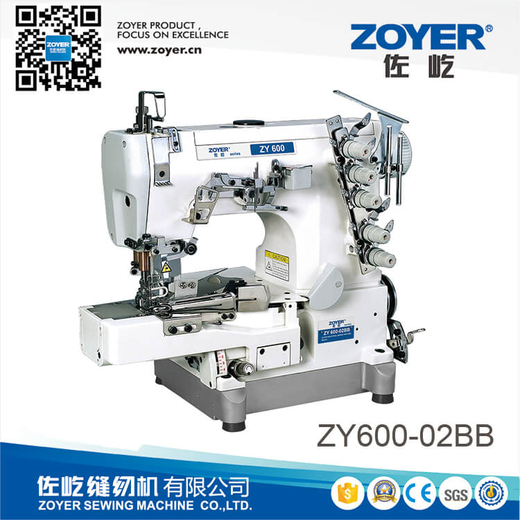 ZY600-02BB Zoyer small flat bed rolled-edge stretch sewing machine