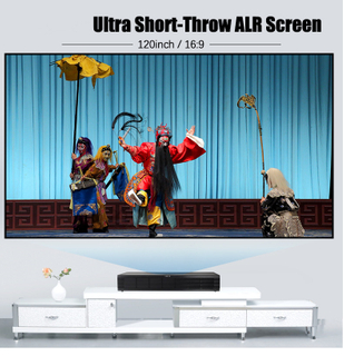 Black Diamond Projector Screen 120 inch Anti-light Projection Screen With 1cm Frame