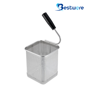 Single Handle SS Pasta Basket (Square) - BTW60U118