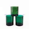 10oz 300ml Fashion Translucent Green Glass Candle Vessel