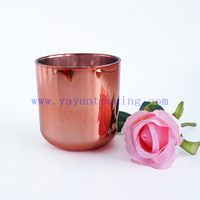 votives candle jars 16 oz rose gold glass candle containers for candle making