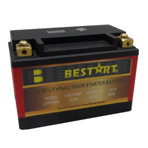 12.8V 4ah LiFePO4 Motorcycle Battery LFP9-BS