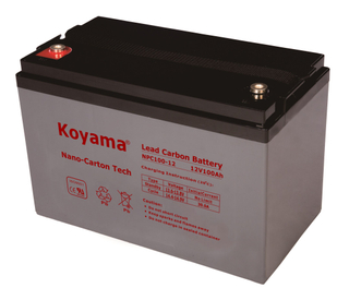12V 100AH High Quality Deep Cycle Lead Carbon Battery NPC100-12