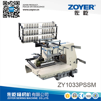 ZY1033PSM Zoyer 33-needle flat-bed double chain stitch sewing machine with shirring
