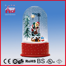 (P23036A) Round Ball Shape Top Christmas Decoration with Snow