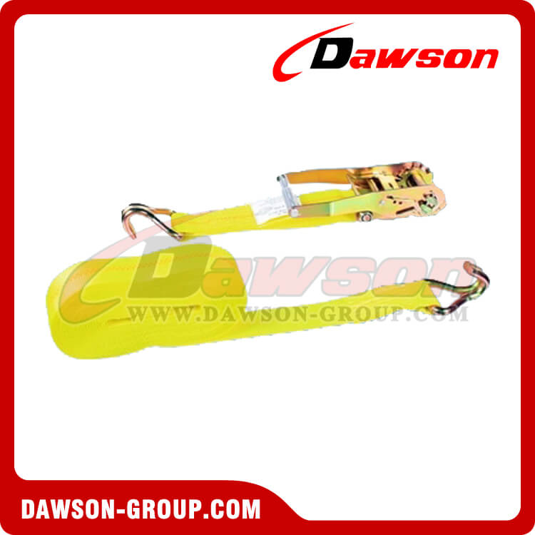 2'' x 24' Ratchet Strap with Double J Hooks - china manufacturer supplier - Dawson Group