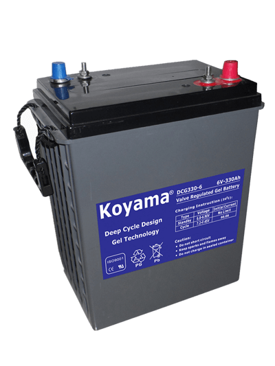 6V330AH Deep Cycle Gel Battery DCG330-6DT for sweeper