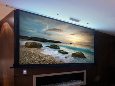 4:3 300 inch large Motorized Tab Tensioned projector screens electric projection screen big motorized projector screen fabric