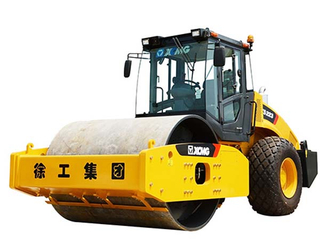 XCMG XS223 Single Drum Vibratory soil compaction in construction