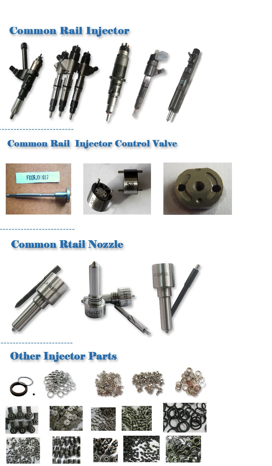 Bosch common rail repair kits
