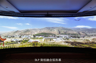 180 /360 Degree Large Curved Projection Screen/Curved Frame Screen for HD Cinema Simulator System