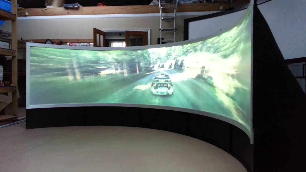 Large 180 Degree Curved Projection Screen with 3D Silver Projection for Cinema,Custom-made