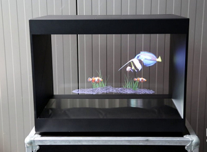 180 degree 55 inch 3D Hologram Pyramid Display Showcase