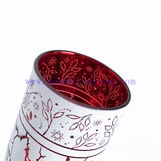 2020 New Arrival Products Laser Engraving Glass Candle Holder