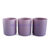 wholesale purple pink matte finish cylinder candle jars glass candle tumbler 12oz for Christmas home decor