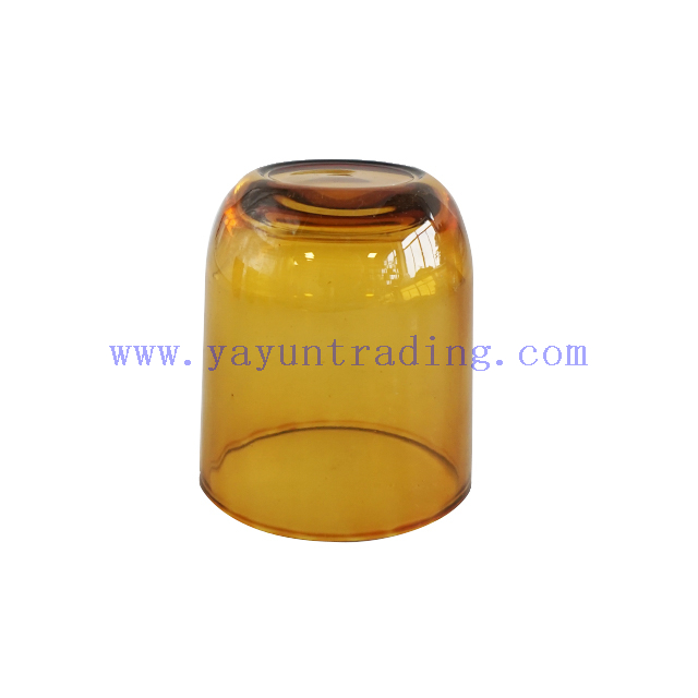 Wholesale 6oz Shiny Amber Glass Candle Holder